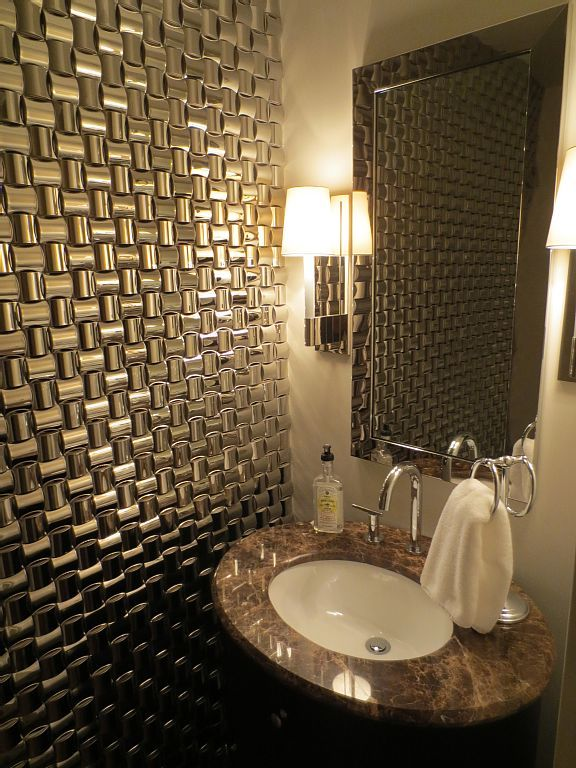 textured wall in half bath decorating ideas pinterest
