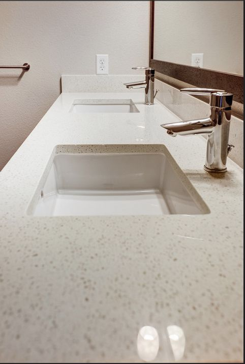 Bathroom white quartz countertops bathrooms pinterest for Bathroom ideas with quartz