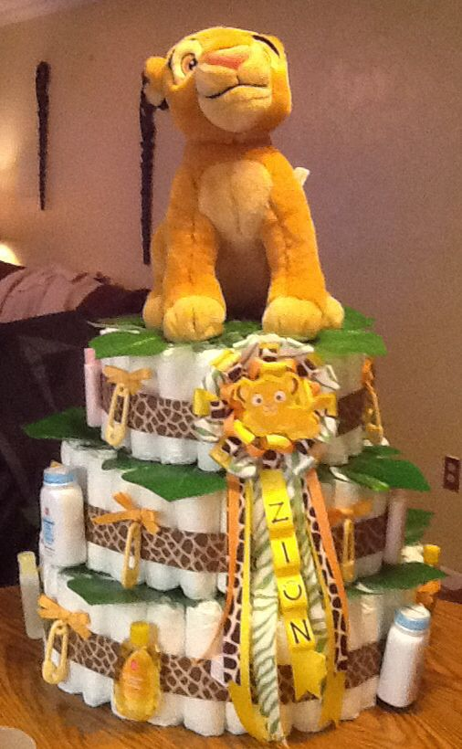 Lion king baby shower table decorations