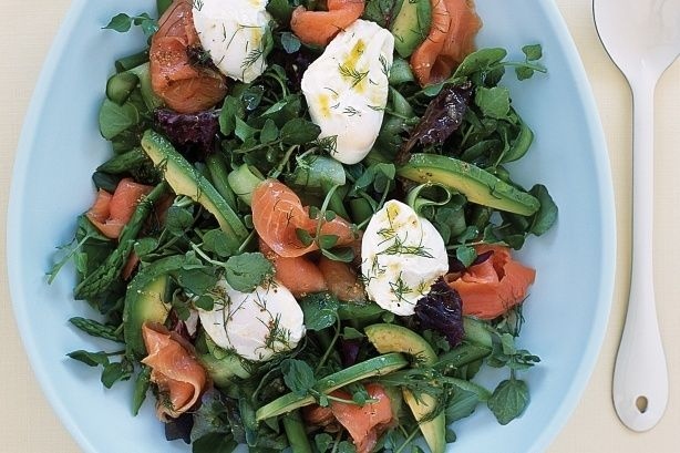 Watercress, Smoked Salmon and Egg Salad by Taste.Com.Au.