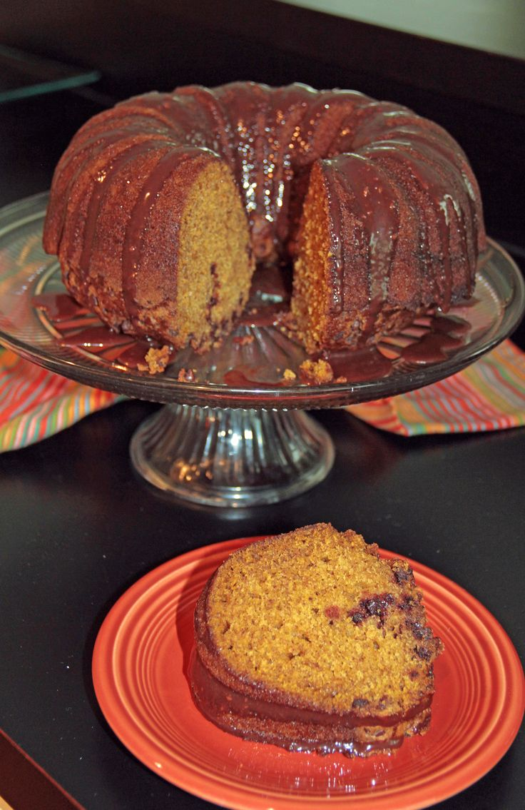 Pumpkin Bundt Cake with Nutella Glaze | Desserts | Pinterest
