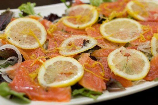 Smoked Salmon Hash With Lemon-Parsley Vinaigrette Recipe — Dishmaps