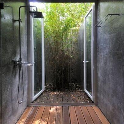 indoor outdoor shower log home designs trend home design