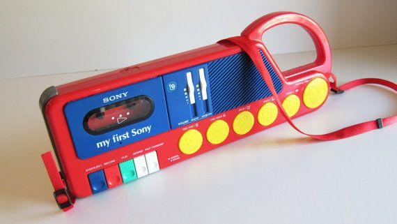80s Electronic Toys : Kids radio my first sony cassette corder works s