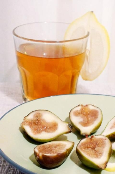 GINGER LEMON TEA & FIGS | Healthy Cooking | Pinterest