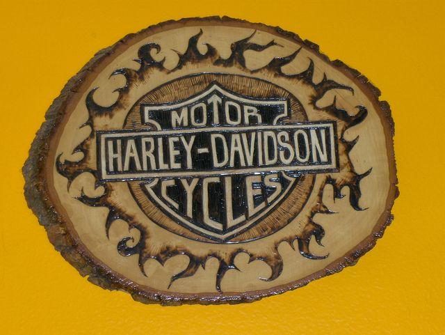 wood burning | Harley Davidson