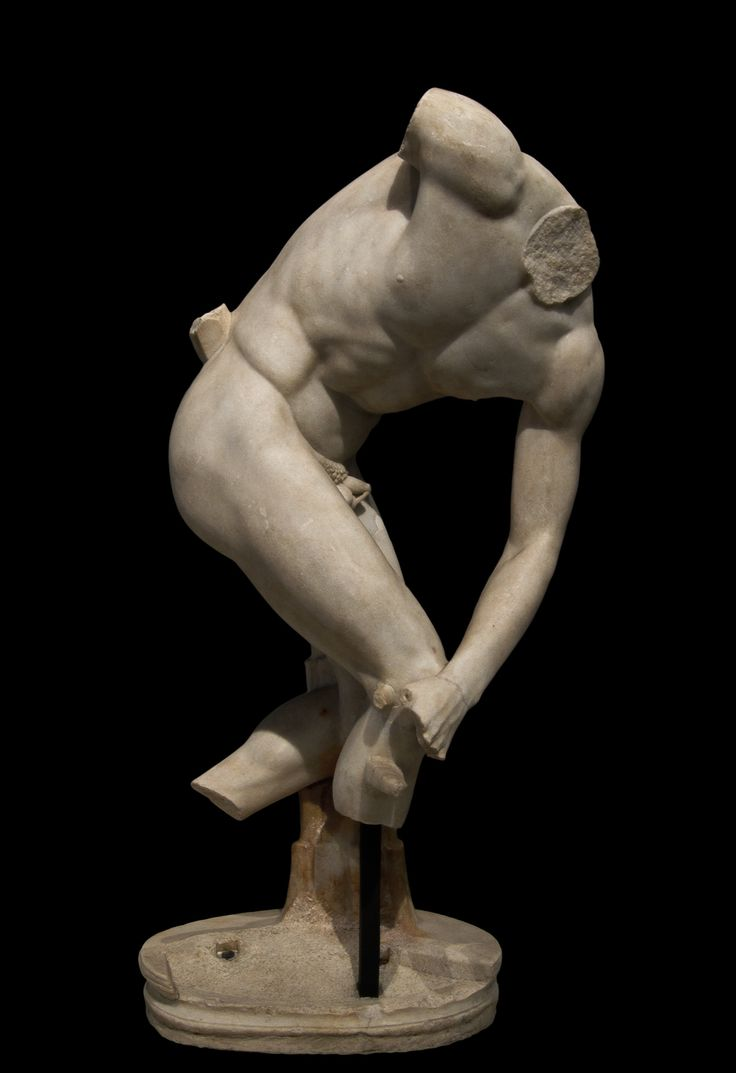 Discobolus of Castelporziano. Parian marble. Roman copy of the 2nd ...