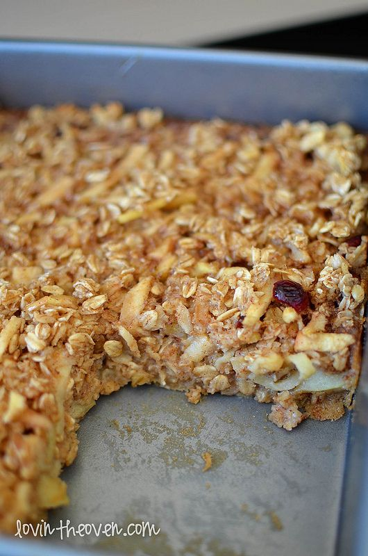 Baked Apple Walnut Oatmeal: Revised: Use less sugar and add flax and ...