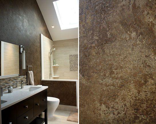 Bathroom decorated with venetian plaster venetian for Venetian plaster bathroom ideas