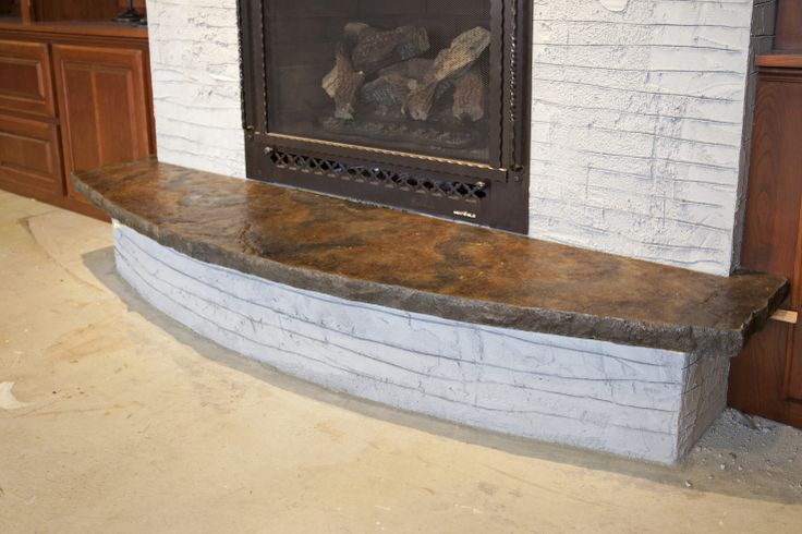 Stained Concrete Fireplace Hearth Quotes