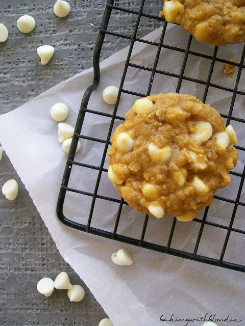 ... with Blondie : Pumpkin and White Chocolate Chip Macadamia Nut Cookies