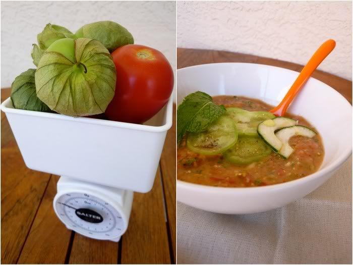 Mint and Tomatillo Gazpacho