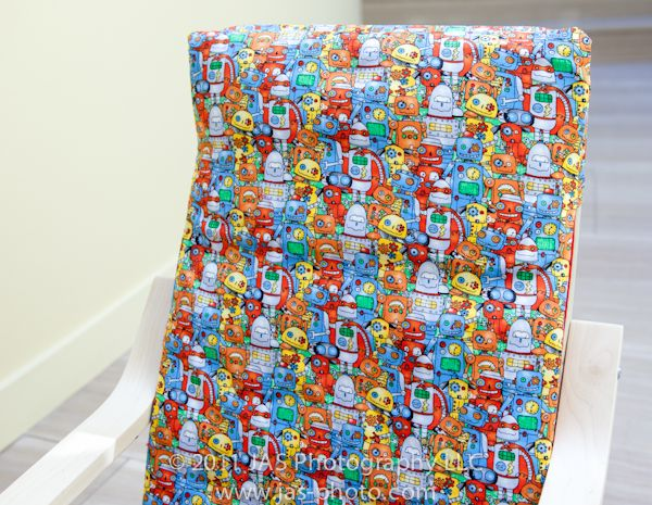 Ikea Poang Chair Cover Tutorial ~ Slipcovers
