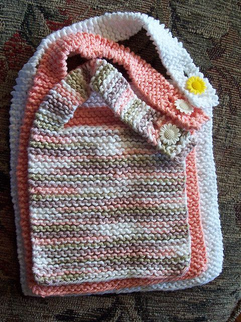 Infinity Scarf Free Knitting Patterns : Simple Baby Bib Knit: Baby Stuff Pinterest