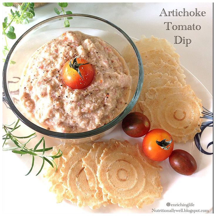 simple & quick to make Gluten free, vegan artichoke tomato dip ...