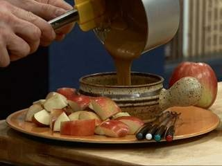 peanut butter fondue | Food for thought :) | Pinterest