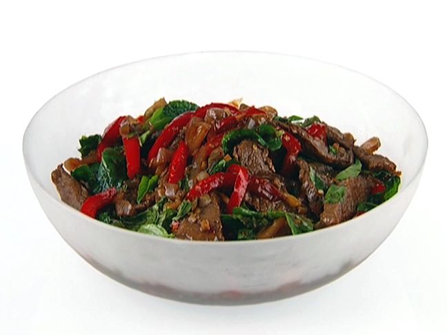 Spicy Mint Beef from FoodNetwork.co So easy and oh so good served over ...