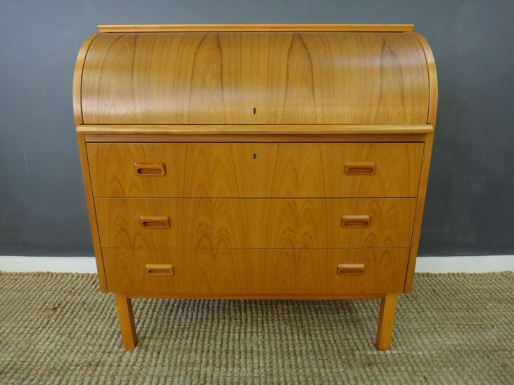 danish modern roll top desk retrocraft studio archive pinterest. Black Bedroom Furniture Sets. Home Design Ideas