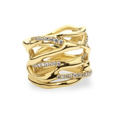 Drizzle Gold Diamond Ring