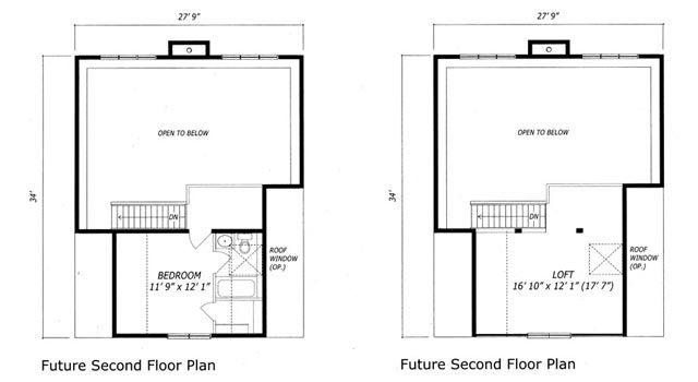 Algonquin model loft floor plan for Share builders plan