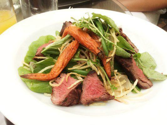Hanger steak salad / Monica L. / yelp.com