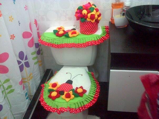 Juegos de baño hechos con fomi ~ dikidu.com