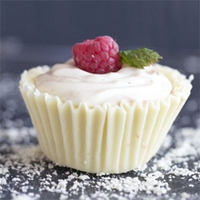 White Chocolate Raspberry Mousse Cups | Naughty recipes | Pinterest