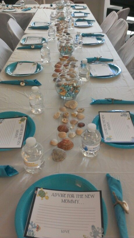 baby shower table decorations my sisters 39 baby shower ideas pinte