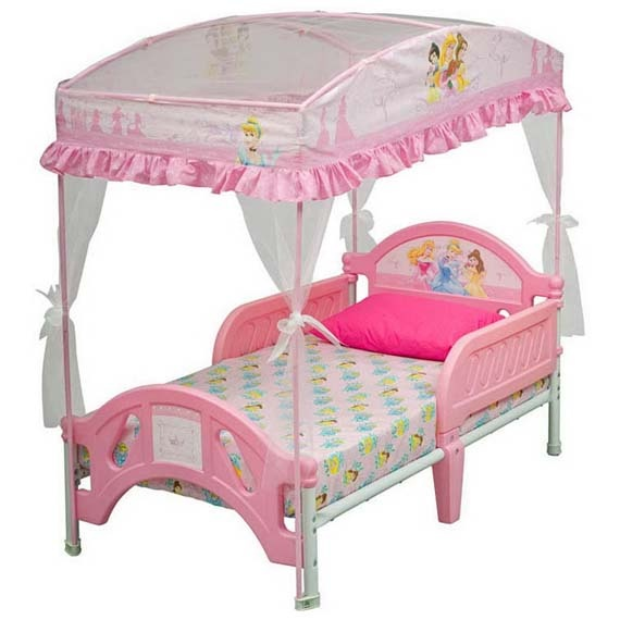 Toddler girl room bing images ideas for zoes room pinterest - Princess bed for toddler girl ...