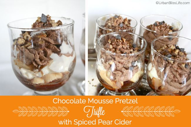 ... : Chocolate Mousse Pretzel Trifle with Spiced Pear Cider Sauce Recipe