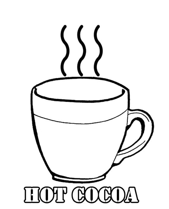 Hot cocoa mug coloring page coloring pages for Hot chocolate coloring page