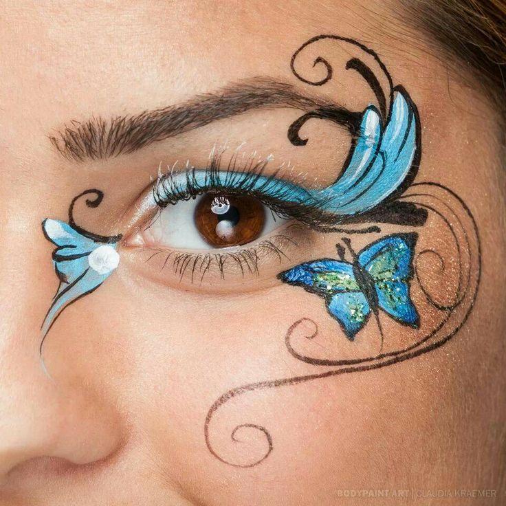 Eye Design Face Painting For Girls Pinterest