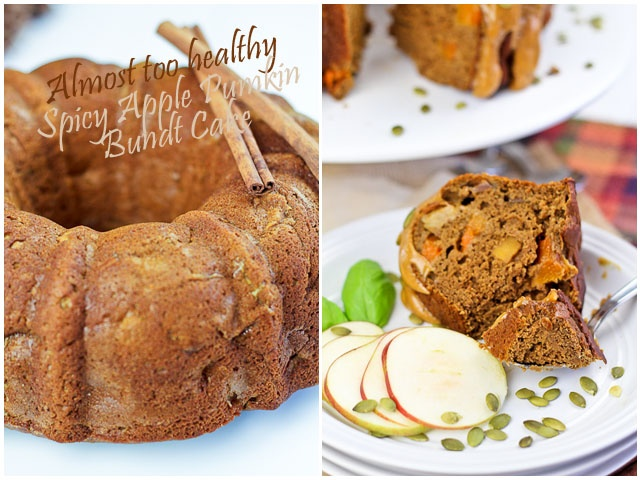 Almost Too Healthy Spicy Apple Pumpkin Bundt Cake | by Sonia! The ...