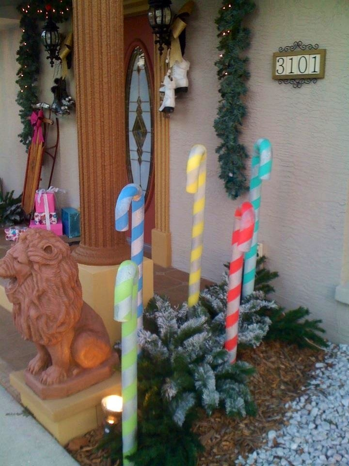 Swimming Pool Noodle Candy Canes Christmas