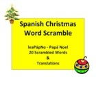 Spanish Christmas Word Scramble - La Navidad - Students unscramble 20 ...