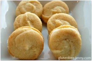 Gluten Free Lime Shortbread Sandwich Cookies - Gluten Free Jenny
