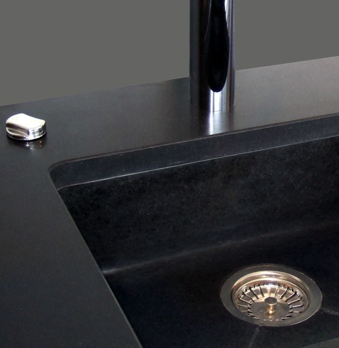 affordable grand vier sousplan en granit noir with evier de cuisine en granite ce plan de. Black Bedroom Furniture Sets. Home Design Ideas