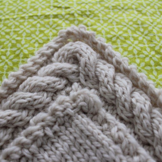 Knit Edging Patterns : Knit Continuous Cable Border Knitting (& Crochet) Pinterest