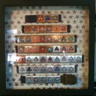 Cub scout (shadow box) belt loop display.