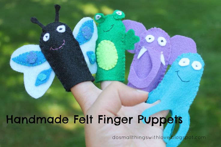 Small Things: Handmade Felt Finger Puppets