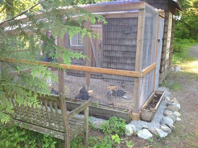 Free self closing chicken coop door for Enclosed chicken run plans