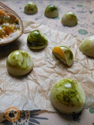 Pistachio praline & passionfruit | Bonbons | Pinterest