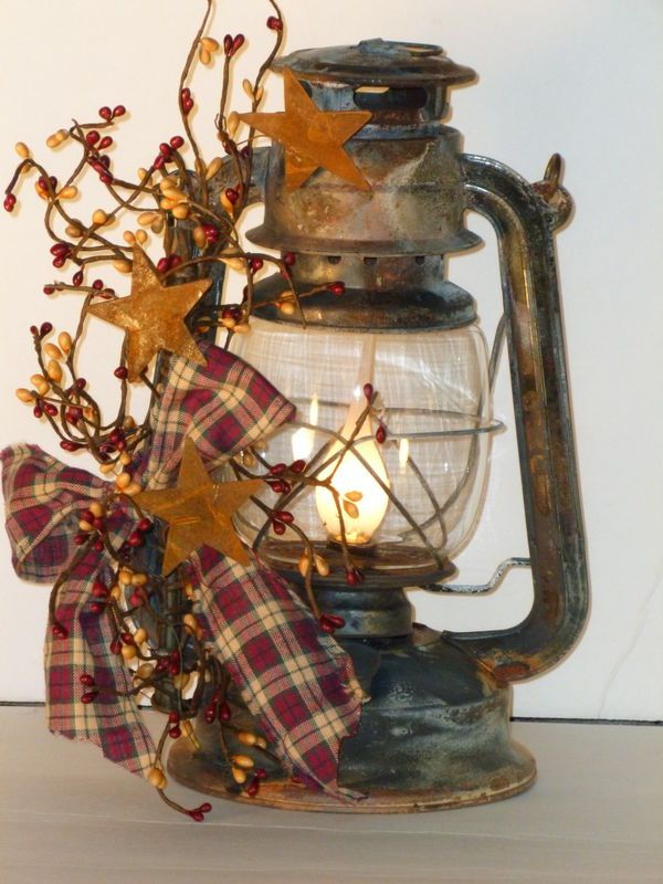 Primitive Country Decor Lanterns