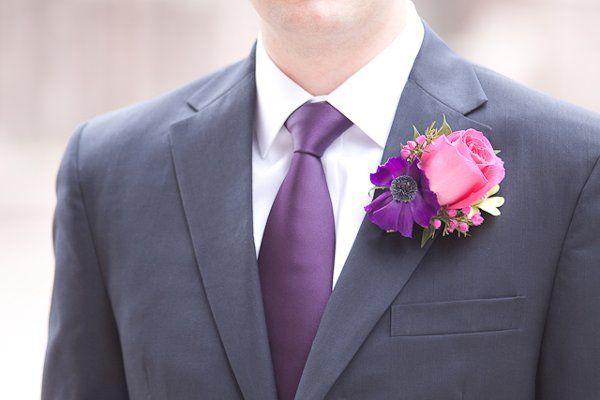 blue suit purple tie bridal guide wedding design