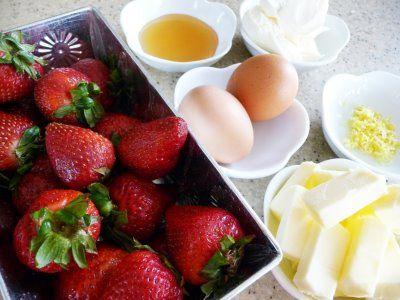 Strawberry Mascarpone Scones With Honey Milk Glaze Recipe — Dishmaps