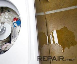 washing machine leaking from bottom