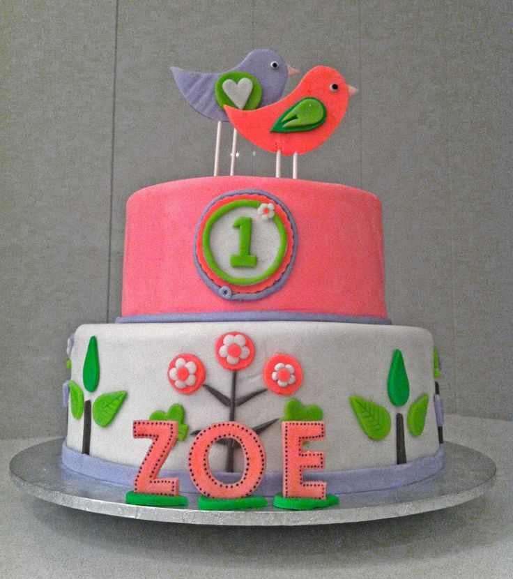 Cute girls birthday cake birthday party pinterest for 1st birthday cake decoration