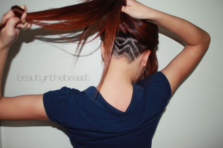 zig zag shaved back! love it! #hair #hairstyle #shaved #pattern # ...
