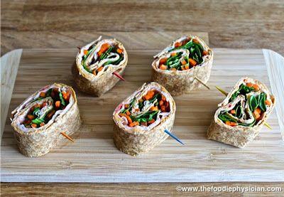 """""""Healthy Snacks for Kids""""- Turkey Hummus Pinwheels"""