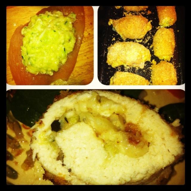 Chicken rollatini stuffed with zucchini and mozzarella. Recipe on ...